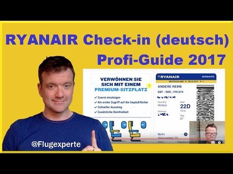 Ryanair Online Check-In Guide (deutsch, 2017) einfach + schnell