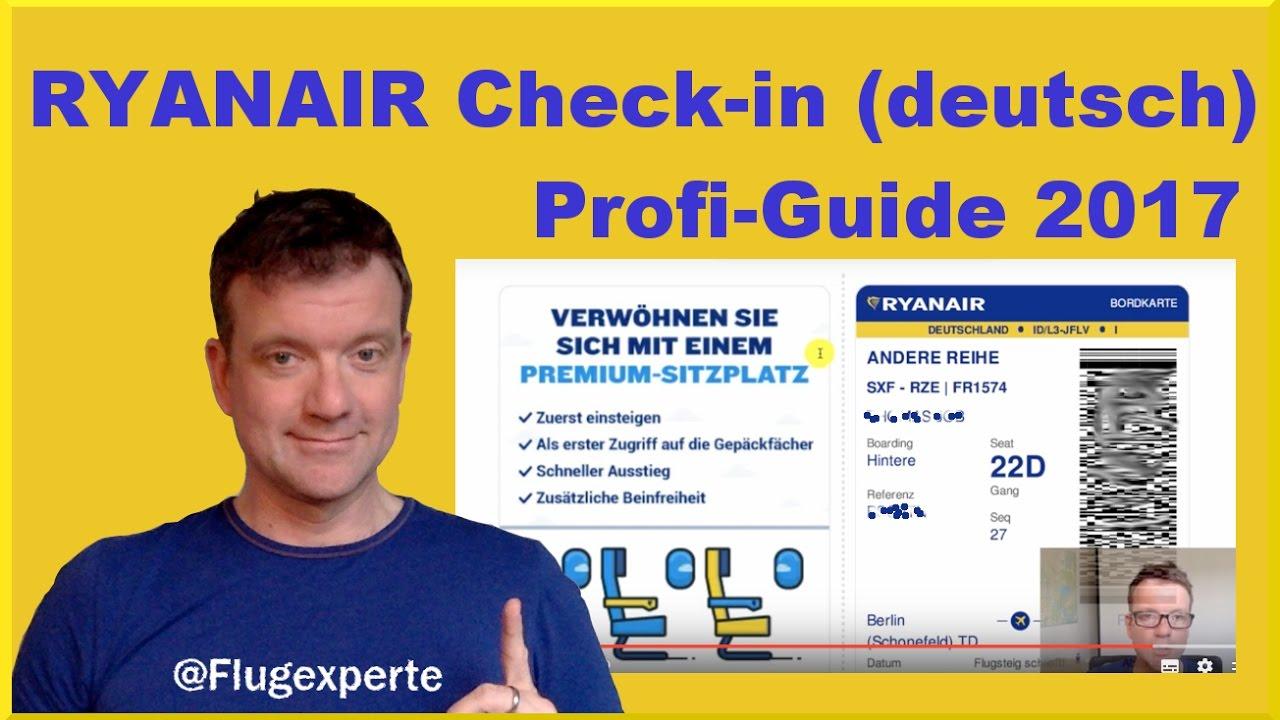 ryanair online check in guide deutsch 2017 einfach schnell