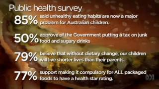 Video 5:38          Obesity Coalition: make health star rating compulsory