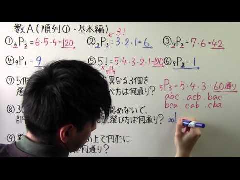 高校数学数A-7順列① ・ 基本編