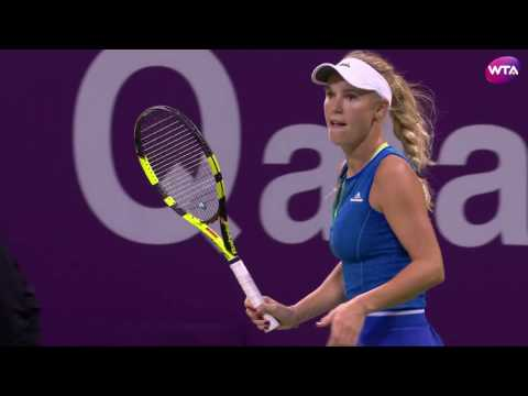 2017 Qatar Total Open Semifinals | Monica Puig vs Caroline Wozniacki | WTA Highlights