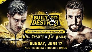 TONIGHT! Built To Destroy LIVE From Newcastle