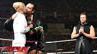 "Rusev and Lana heat up ""Miz TV"": Raw, November 30, 2015"