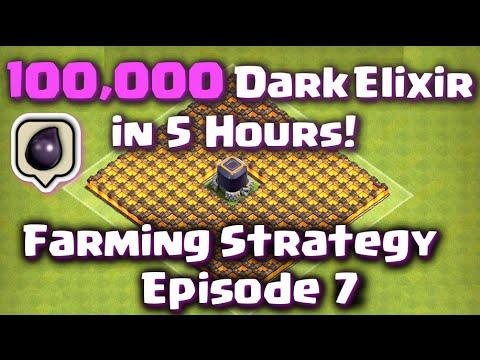 Clash of Clans - 100,000 Dark Elixir in 5 Hours! Episode 7 (Best Farming Strategy)