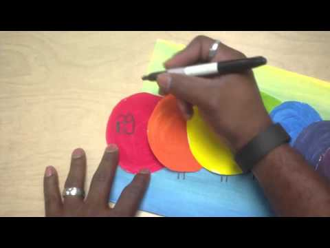 Art Lessons For Kids: Color Mixing Caterpillar Pt 3