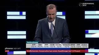 Manfred Weber in Brüssel zur Europawahl am 26.05.19
