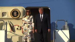 Giappone, Donald Trump arrivato a Tokyo per una visita di Stato