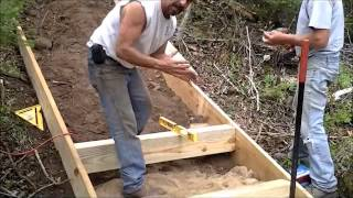 Installing Outdoor Stairs On A Lake-front Home
