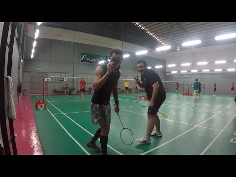 GoPro Badminton Interhub Friendly Nov  - Calvin & Feddy vs Hong & Jeremiah
