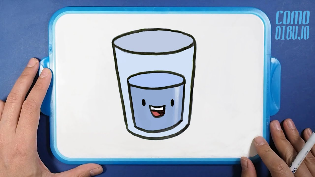 Como Dibujar y Colorear Vaso de Agua paso a paso  Dibujos para