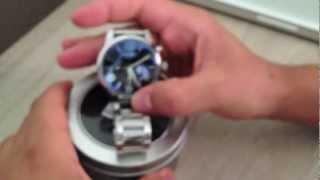 Unboxing - Relógio MontBlanc Azul