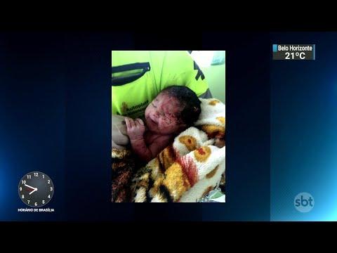 Bebê sobrevive após mãe ser arremessada de caminhão durante acidente | SBT Brasil 28/07/18