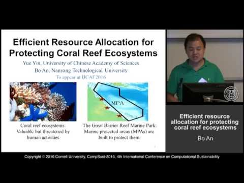 "Bo An, Yue Yin, ""Efficient Resource Allocation for protecting coral reef ecosystems"""