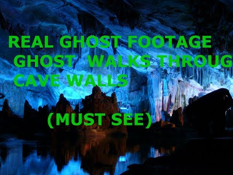REAL GHOST CAUGHT WALKING THROUGH CAVE