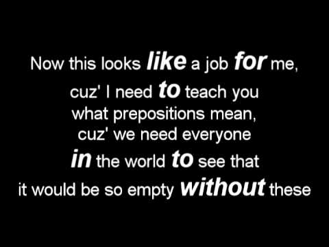 Without Prepositions- preposition rap