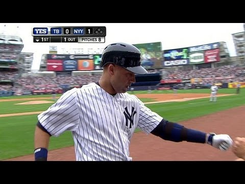 Captain Derek Jeter returns from DL, homers on first pitch