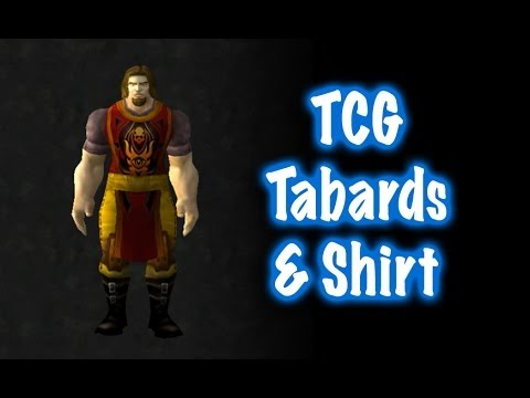 TCG (Trading Card Game) Tabards & Shirt Display (World of Warcraft)