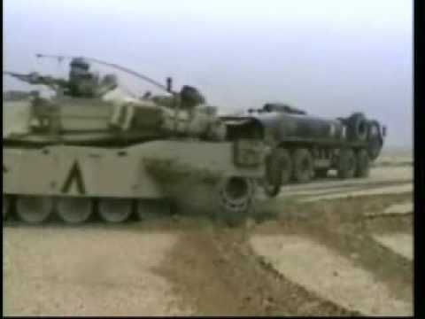 M1a1 Abrams Tanks In Action ,iraq 1991