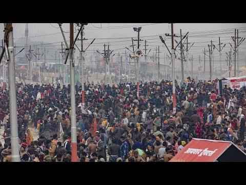 شاهد: مئات آلاف الحجاج الهندوس يمارسون شعائرهم الدينية رغم كورونا …  - 19:59-2021 / 1 / 15