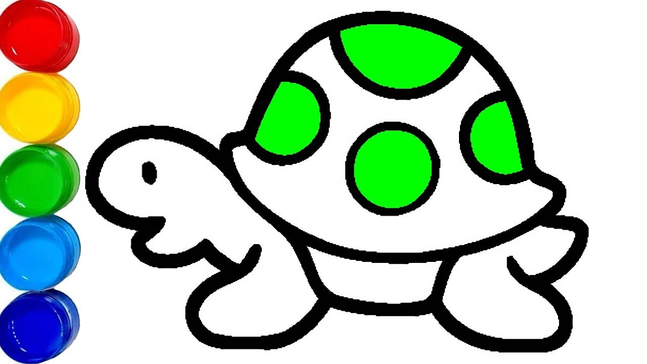 Kaplumbaga Boyama Hayvanlari Ogreniyorum Cocuk Sarkilari Youtube