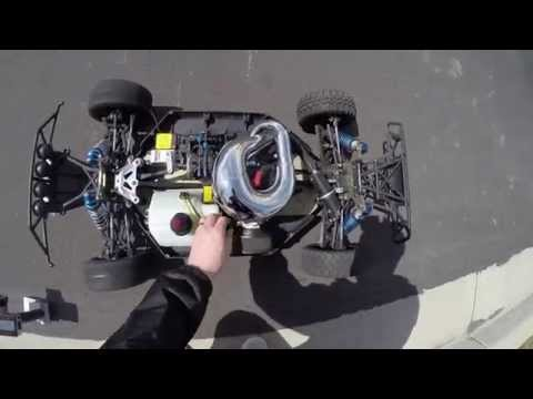 Zenoah G320RC FIRST Losi 5IVE installed video davesmotors com