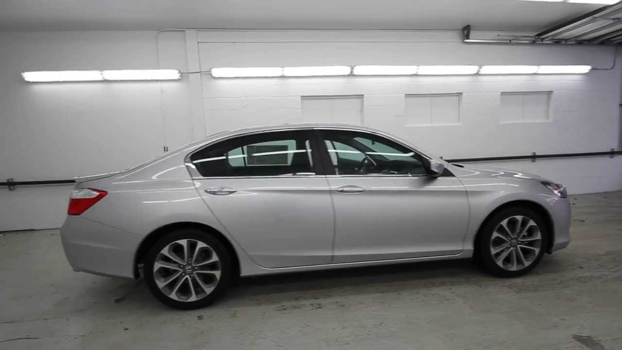 2014 honda accord sport alabaster silver ea127251 seattle renton youtube. Black Bedroom Furniture Sets. Home Design Ideas