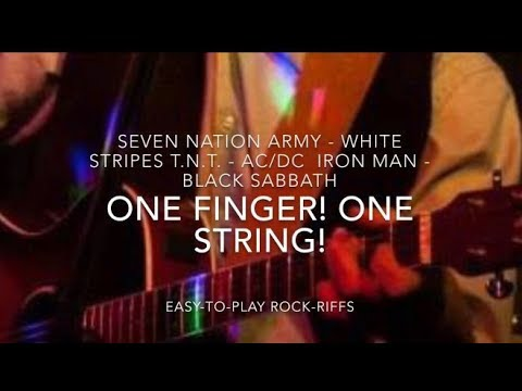 Classic Rock-Riffs for Guitar: Only One finger, One string! Episode 2