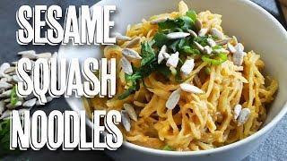 Spaghetti Squash Sesame Sunflower Noodles (vegan + gluten free + nut free)
