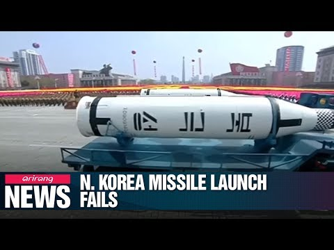 North Korea's attempted missile launch fails