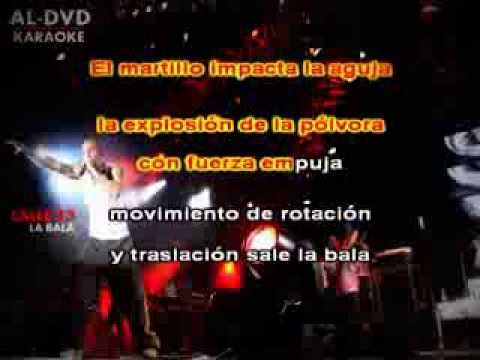 La Bala Calle 13 con letra Karaoke