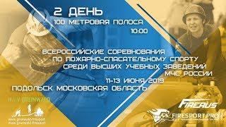 Всероссийские соревнования среди учебных заведений. 2 день. 100 метров.