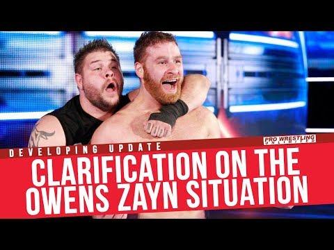 Clarification On The Kevin Owens Sami Zayn Situation
