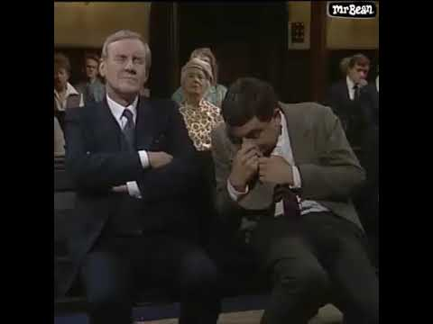 mr bean sleeping on church funny video