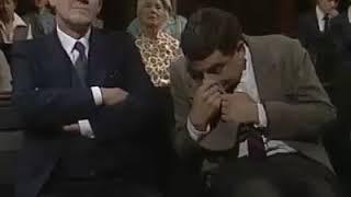 mr bean sleeping on church funny video