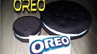 БОЛЬШОЕ OREO - как сделать шоколадное печенье Орео с начинкой.Блокнот -How To Make Oreo Notebook