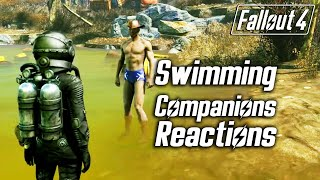 Fallout 4 - Swimming - All Companions Reactions