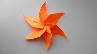 star origami Звезда из бумаги. Новогодние поделки оригами. Украшение на Новый год 2018