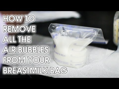 How To Remove Air Bubbles from Your Breast Milk Bags | MOMMY HACKS