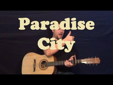 Paradise City (Guns and Roses) Easy Strum Guitar Lesson Licks  How to Play Paradise City