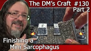Painting DIY MINI SARCOPHAGUS Terrain (DM