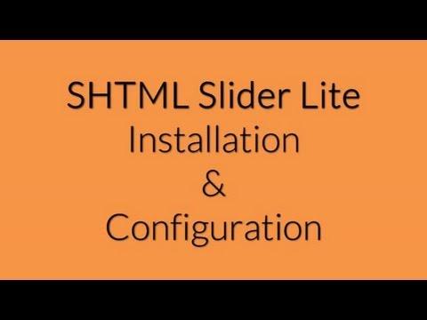 SHTML Slider Lite Installation and Configuration
