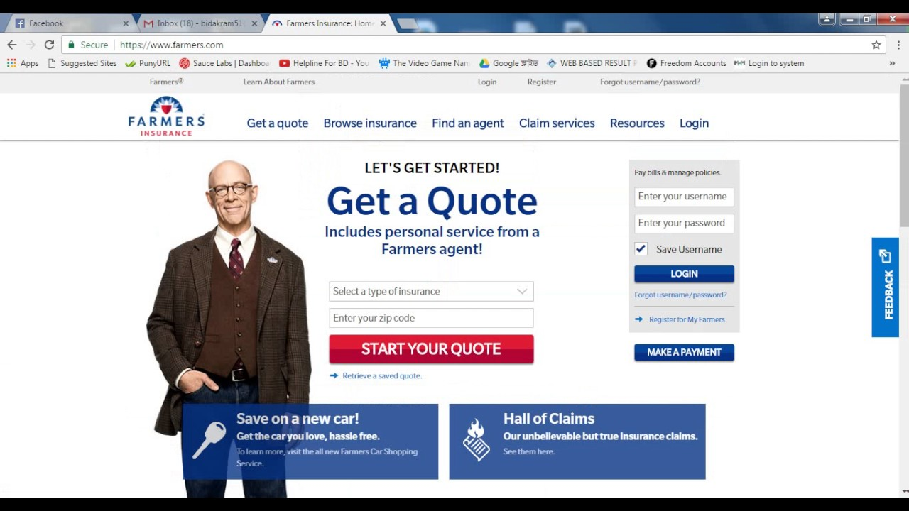 Farmers Insurance Quote Farmers Insurance  Youtube