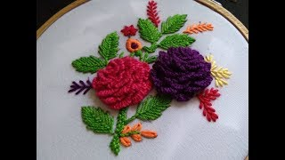 Hand Embroidery - Cast on Stitch- Brazilian Embroidery For Beginners