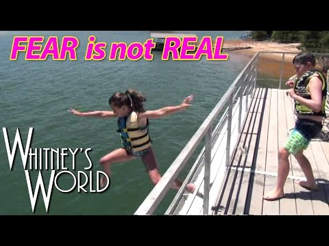 Jumping off the Roof Into the Lake | Whitney and Blakely
