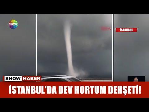İstanbul'da dev hortum dehşeti!