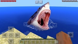 Realistic Shark Trick in MCPE 1.2! (Minecraft PE)