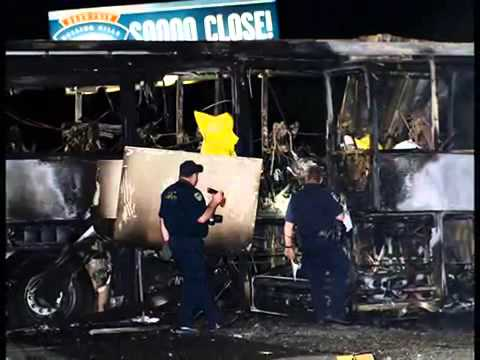 Truck slams into bus carrying California high school students MUST SEE
