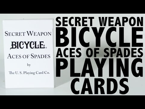 Deck Review - Bicycle Secret Weapon Ace Of Spades Playing Cards [HD]