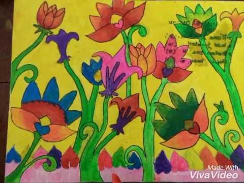 Menggambar Ragam Hias Flora Youtube