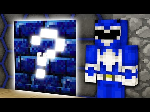 Blue Ranger SECRET ROOM! Minecraft POWER RANGERS HIDE N SEEK